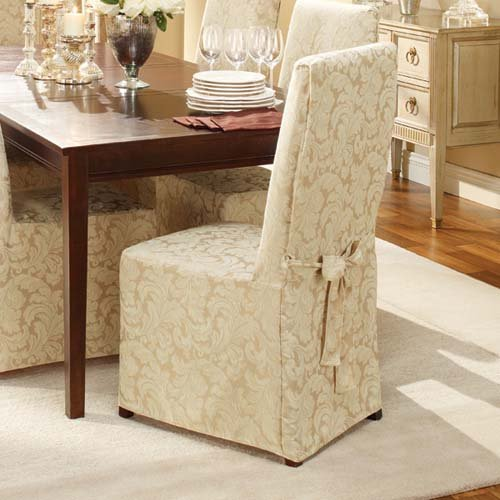 5 Best Dining Chair Covers Help keep your chair clean  : Scroll Classic Fit Dining Chair Slipcover from www.tlbox.com size 500 x 500 jpeg 48kB