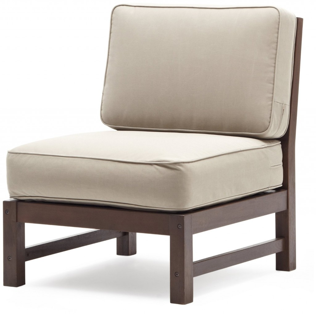 Strathwood Anderson Hardwood Sectional, Armless Chair