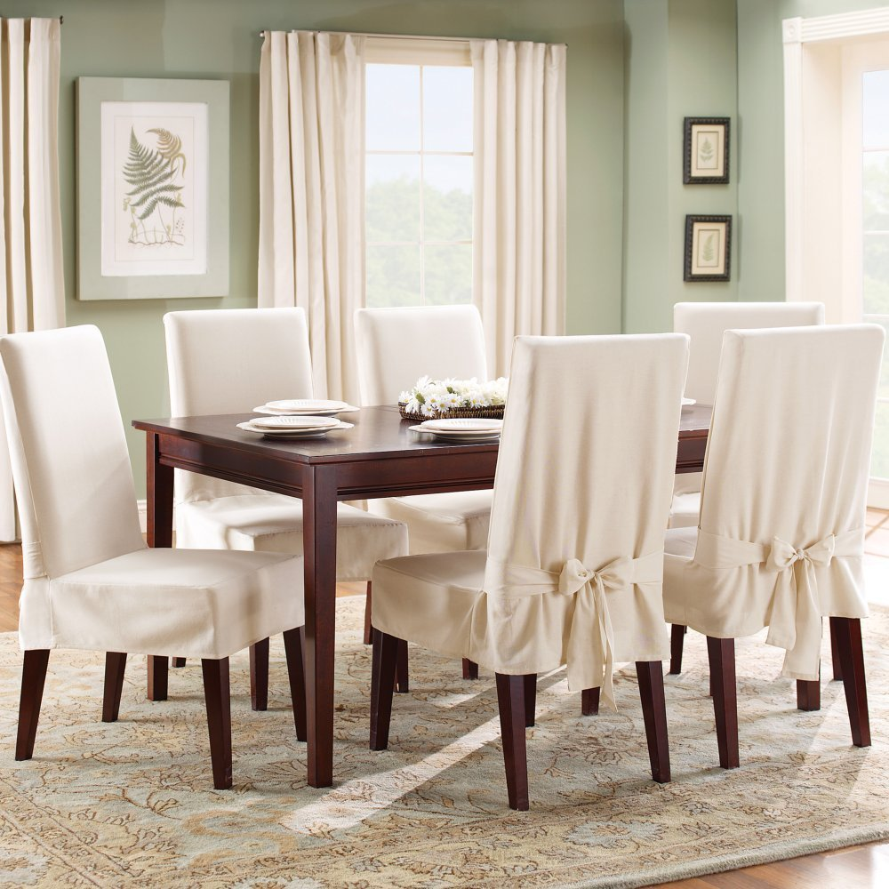 5 best dining chair covers help keep your chair clean for Dining room chair covers