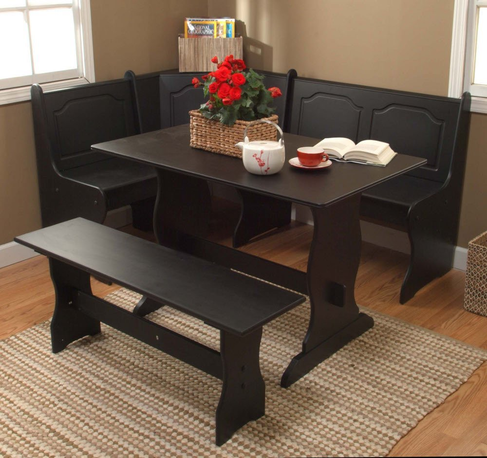 5 best corner kitchen table space saver for your tool box for Corner dining set