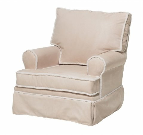 The Rockabye Glider Square Back Glider with Sherpa