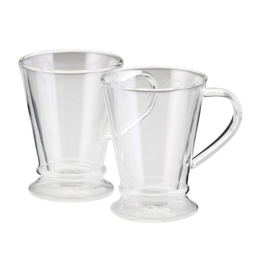 Bonjour Insulated Double Wall Glass Coffee Mug