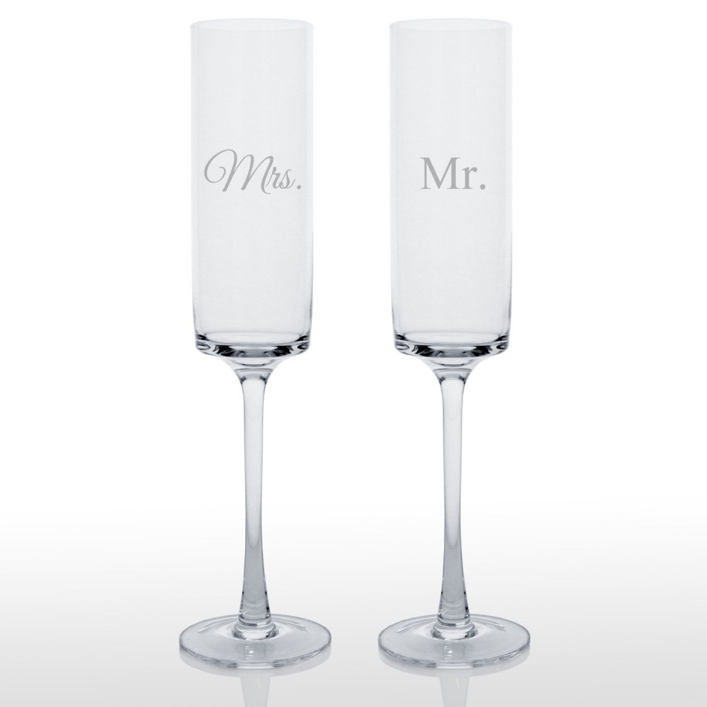 Cathy's Concepts Contemporary Champagne Flutes