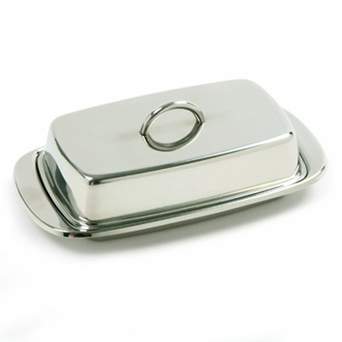 Norpro 282 Stainless Steel Double Covered Butter Dish