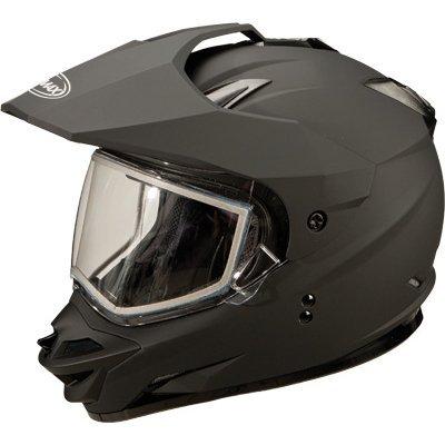 Gm11s sport men s snocross snowmobile helmet flat black large