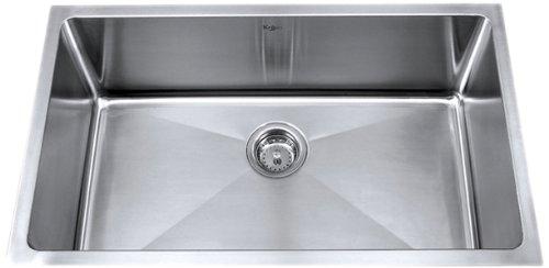 kraus 30 inch undermount single bowl kraus stainless steel kitchen sinks - Kitchen Sinks Price