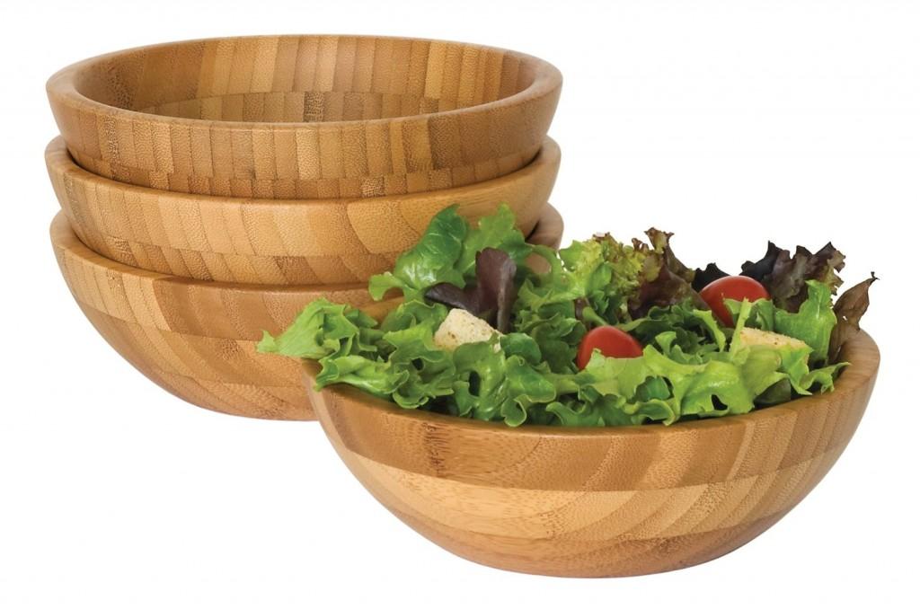 Lipper Bamboo Small Salad Bowls