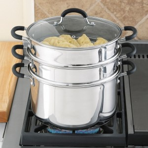 Stainless Steel Steamer - Healthy, delicious food has never been so easy to make