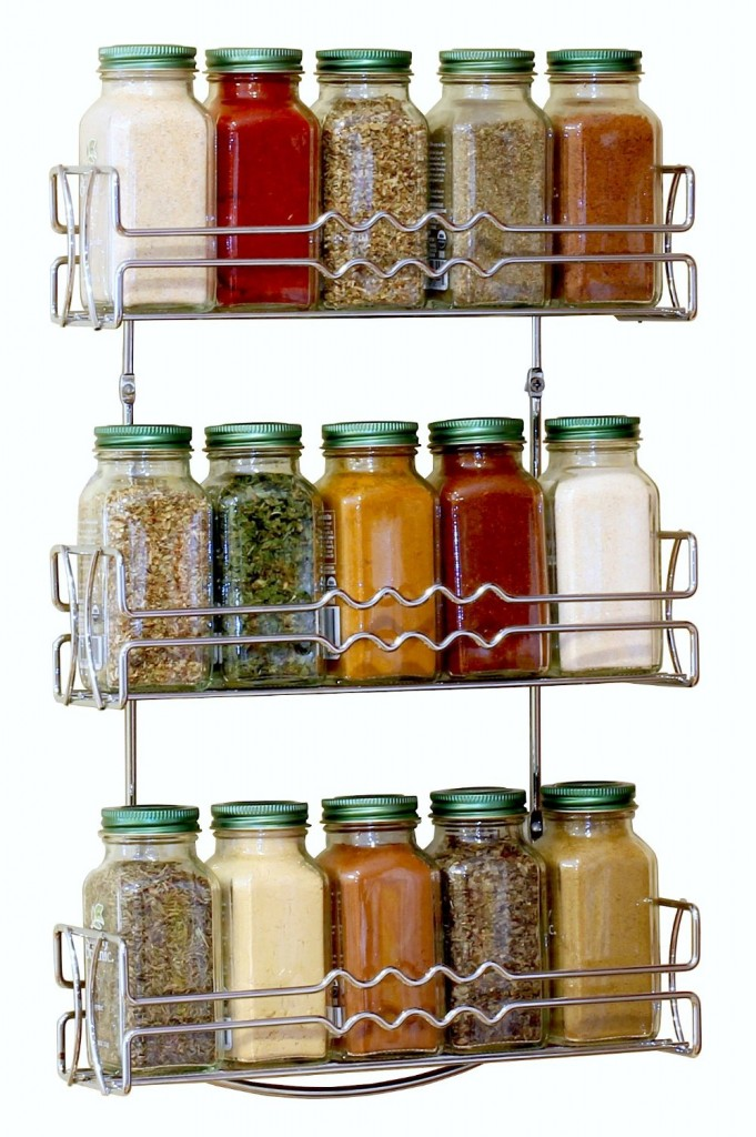 5 Best Wall Mounted Spice Rack No More Messy Kitchen on tall black kitchen pantry cabinet