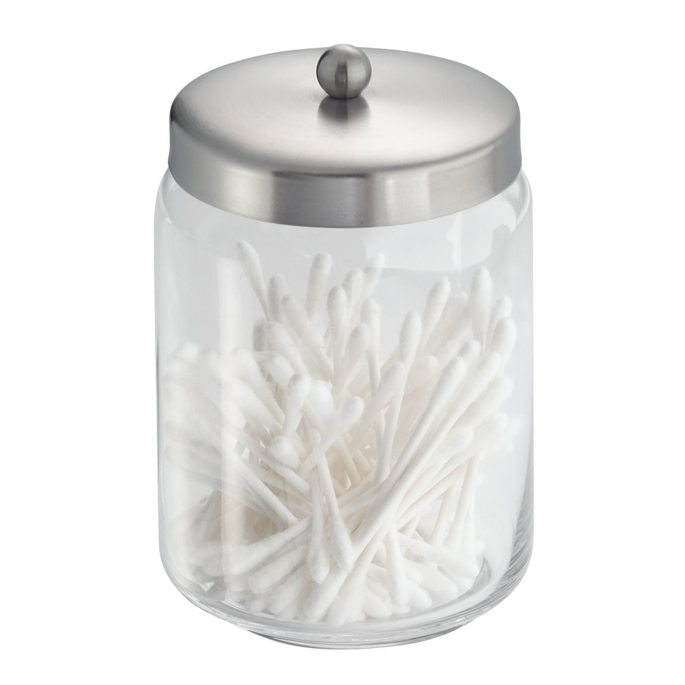 InterDesign Forma Apothecary Jar. 5 Best Crystal Clear Cotton Ball Holder   Must have for any