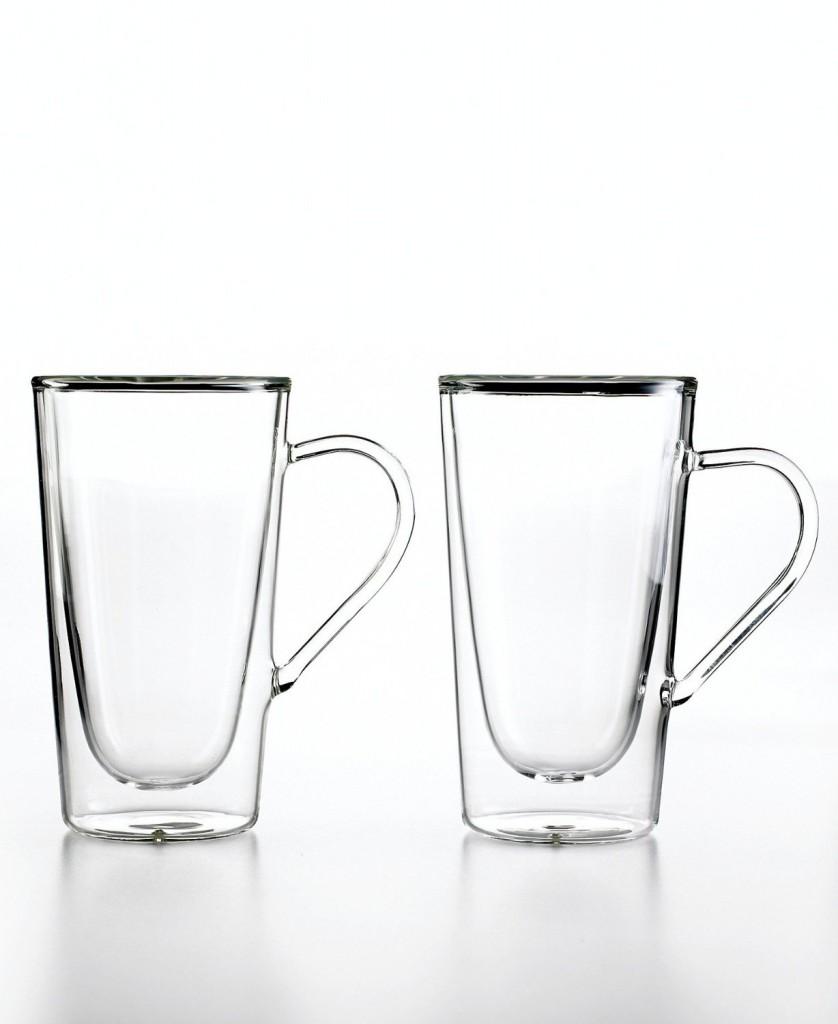 Luigi Bormioli Set of 2 Duos Double-Wall Mugs