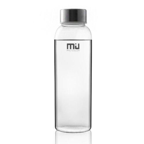 MIU COLOR Stylish Portable Real Borosilicate Glass Water Bottle