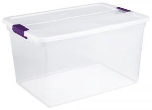 Sterilite Clear Storage Box - Create organized home easily