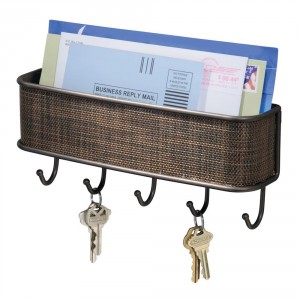 Wall Mount Letter Holder with Key Hooks - Add style and function to your wall