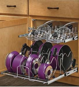Pan Organizer - No more messy cabinets