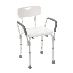 Shower Chair with Arm and Back - Feel secure and comfortable in the shower