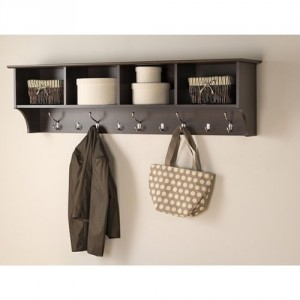Prepac Entryway Shelf with Hooks - Combination of function, style and quality