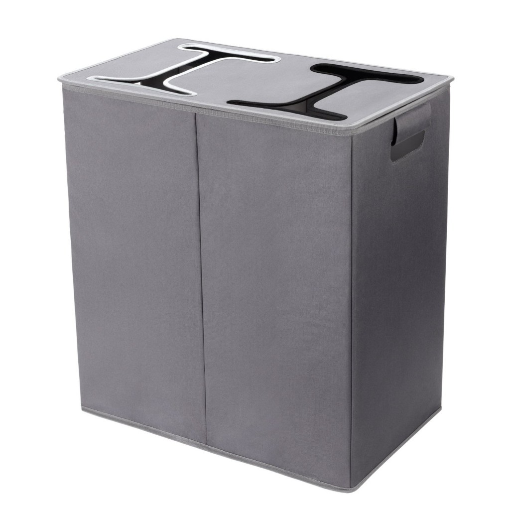 5 best double hamper with lid say goodbye to a cluttered - Way laundry hamper ...