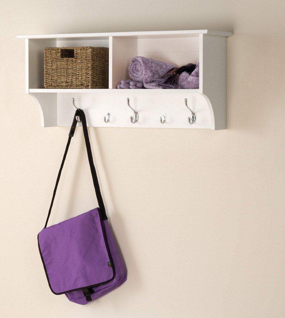 Prepac 36 Wide Hanging Entryway Shelf in White
