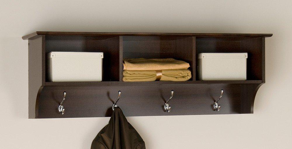 Prepac Sonoma Espresso Entryway Cubbie Shelf