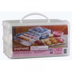 Cupcake Carrier - Safe way to transport your beautifully decorated cupcakes to a picnic or party
