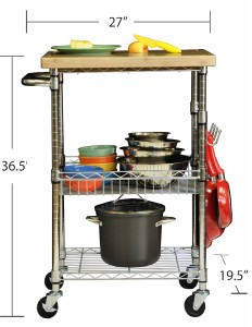 Kitchen Cart with Wheels - Keep your kitchen utility organized and within easy reach