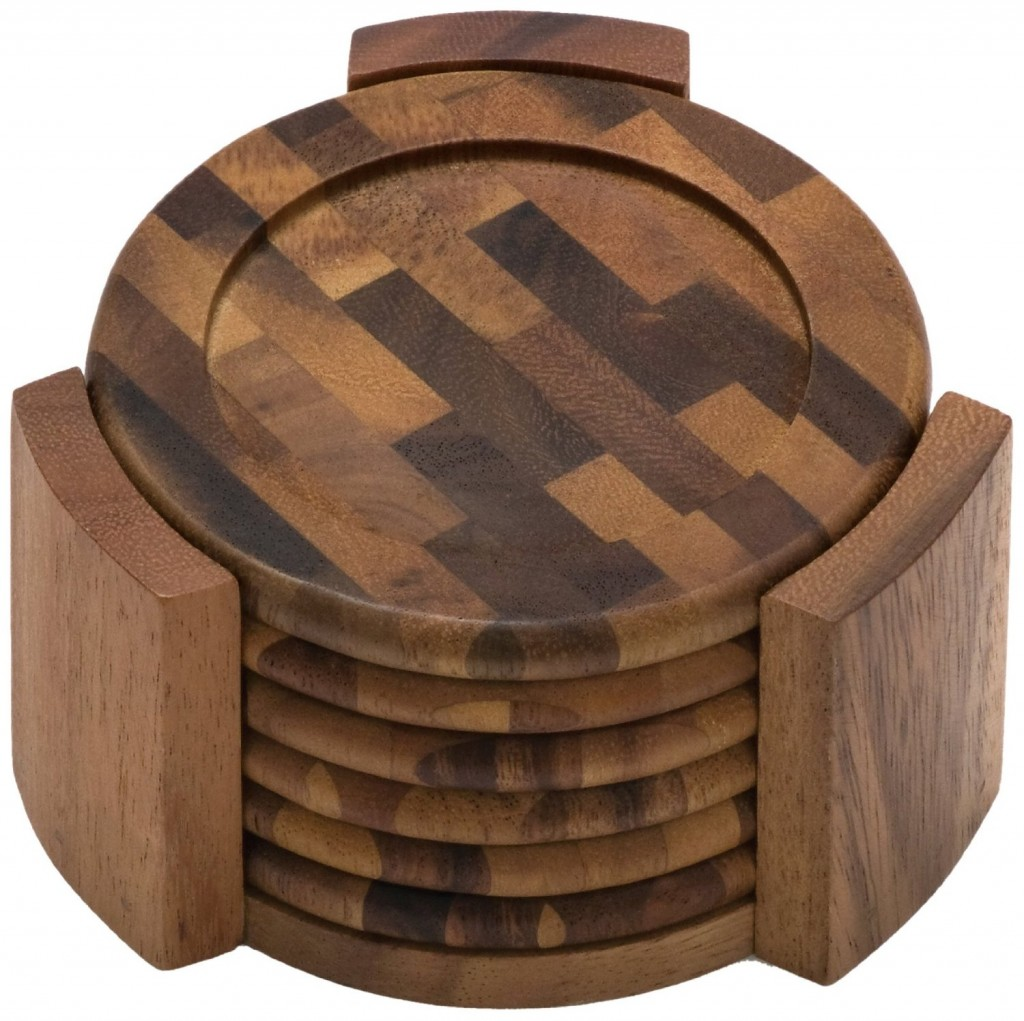 Round Dining Room Table For 8 5 Best Wood Coaster Set Potect Your Table No Matter What