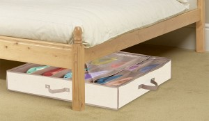 Underbed Shoe Storage - Keep your shoes clean organized in one place