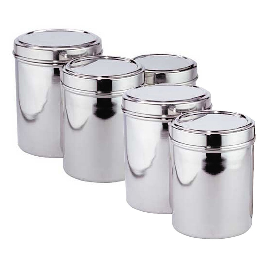 5 best stainless steel kitchen canister set convenient for 3 piece metal kitchen units