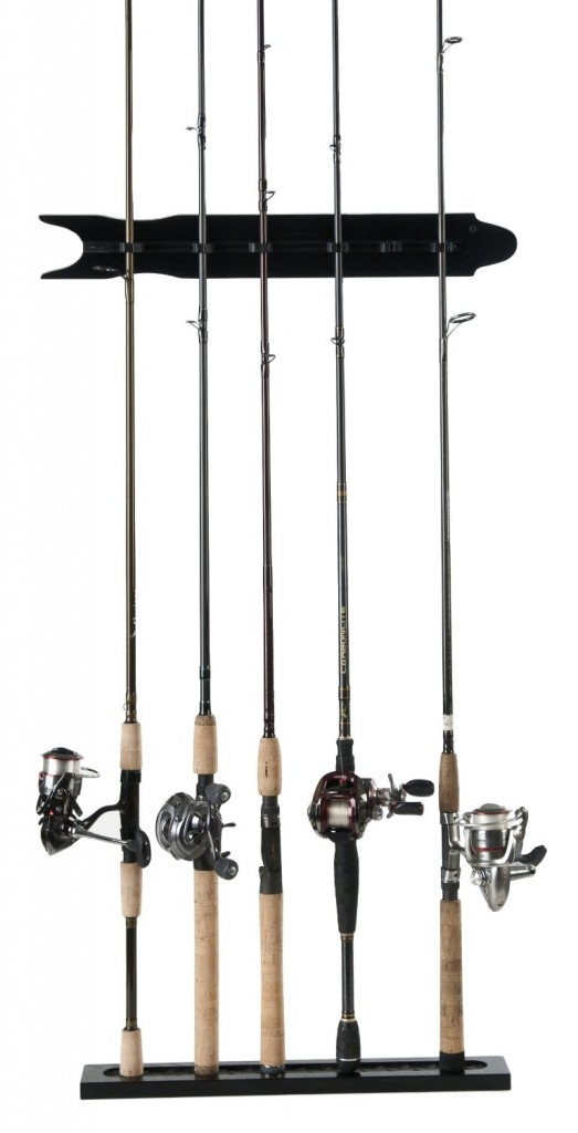 5 best fishing rod rack store your equipment up and out for Wall fishing tools