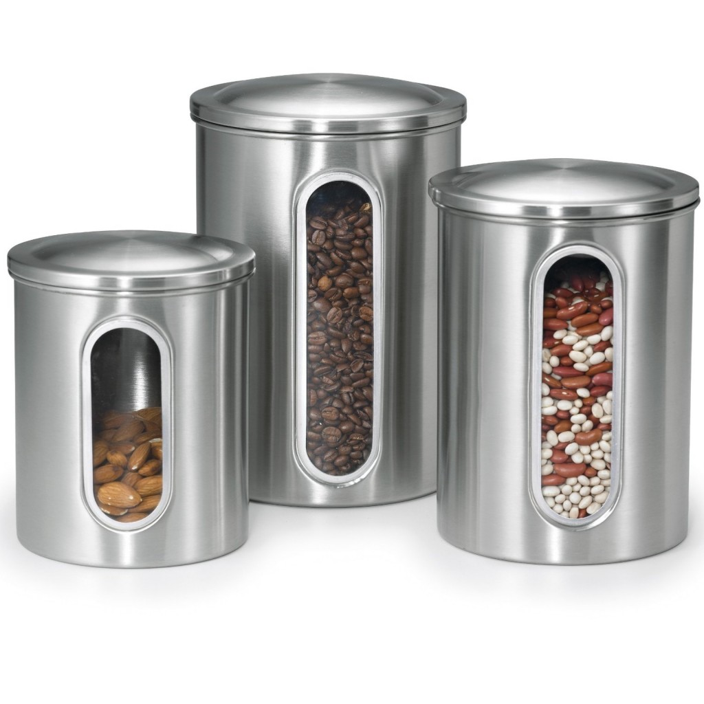 5 best stainless steel kitchen canister set convenient for Kitchen kitchen set