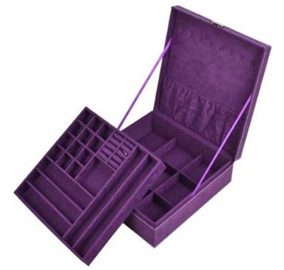 KLOUD City ® Purple two-layer lint jewelry box