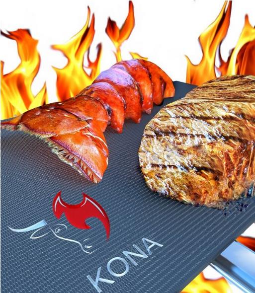Kona® BEST BBQ GRILL MAT - Set of 2 Mats