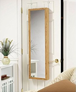 Mirrotek Jewelry Armoire Over The Door Mirror Cabinet