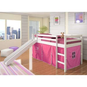 Tent Loft Bed With Slide - Fun and creative bed for your child