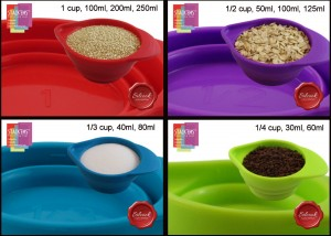 Collapsible Measuring Cups - Save space while adding life to your kitchen