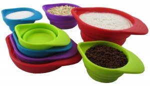 Silcook 8-Piece Set Stackable Silicone Measuring Cups