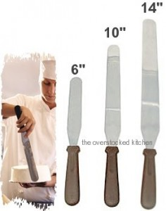 3 Size Commercial Baker Icing Spatula Set