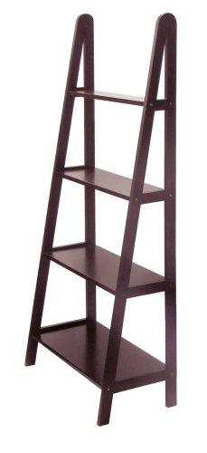 Winsome Wood 4-Tier A-Frame Shelf, Espresso