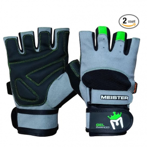 Meister Wrist Wrap Weight Lifting Gloves