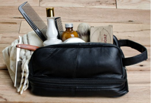 Leather Toiletry Bag - A must have for any man that travels