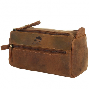 Leather Toiletry Bag travel compact