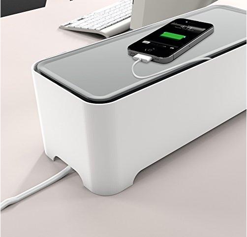 E-BOX - Power Cable Box for Desk & TV & Computer