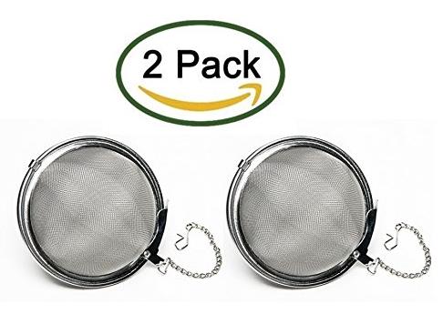 Nuk3y® Stainless Steel Rust Resistant Mesh Tea Ball Strainer Filter Infuser