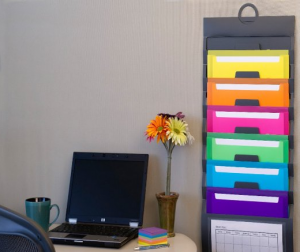 Cascading Wall Organizer - Free up space on your desk