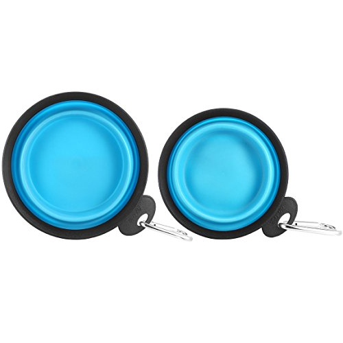 Set of 2 Portable Travel Dog Bowl