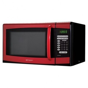 EMERSON MICROWAVE OVEN- RED