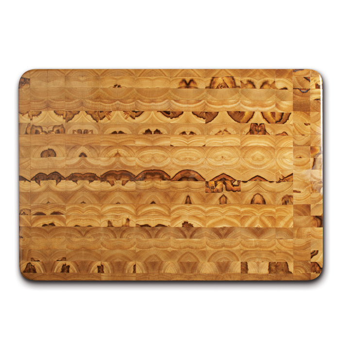 Gripper wood end grain cutting board