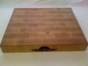 Maple wood end grain cutting board