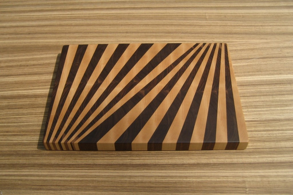 Patterned and grained glass cutting board
